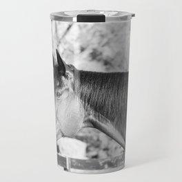 Autumn in Black & White Travel Mug