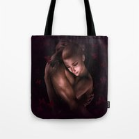 lovers Tote Bags featuring Lovers by Britta Glodde
