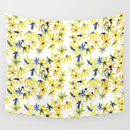 Blue Eyed Susan Wall Tapestry