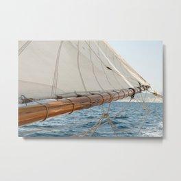 Nautical photography - Sailing downwind- Ocean love Metal Print