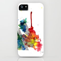 Watercolor and Fine Liner Triangles Slim Case iPhone (5, 5s)