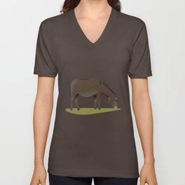 New Forest Donkey Unisex V-Neck