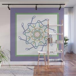Lullaby Mandala - Lavender Green Wall Mural