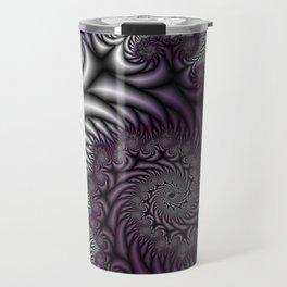 Purple and Gray Travel Mug