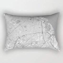 Buenos Aires Map Line Rectangular Pillow