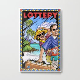 Lottery Poster Metal Print