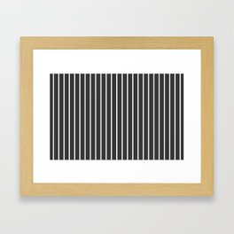 Pinstriped Framed Art Print