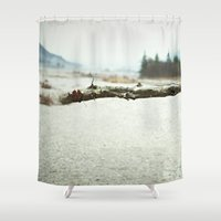 woody allen Shower Curtains featuring woody by cOnNymArshAuS
