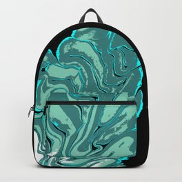 Ripples with Black Background 02 Backpack