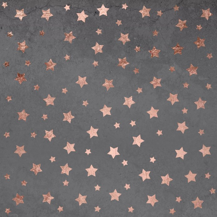 Rose gold Christmas stars geometric pattern grey graphite industrial cement concrete Comforters