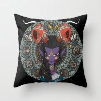 zodiac Throw Pillows featuring Zodiac : Capricorn by Det Tidkun