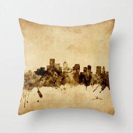 BostonMassachusetts Skyline Throw Pillow