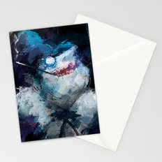 Penguin painting Stationery Cards