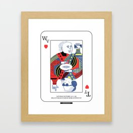Jokers & Kings - TTU vs WVU 10/14/17 Framed Art Print