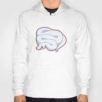 monty python Hoodies featuring Blue Leucistic Ball Python by Cargorabbit