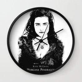 Katie McGrath - Morgana Pendragon Black and White Wall Clock