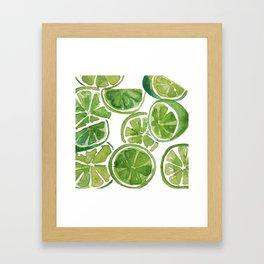 Watercolor LIMES Framed Art Print