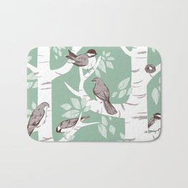 Birch Birds Bath Mat
