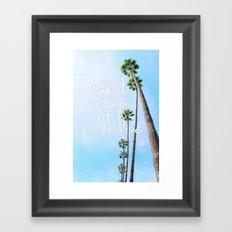 dream of paradise Framed Art Print