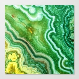 Green Onyx Marble Canvas Print