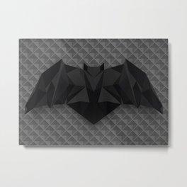 Geometric Bat Symbol Metal Print