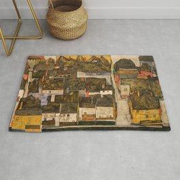 Egon Schiele - Die kleine Stadt IV (Krumau an der Moldau) Rug