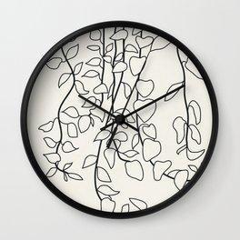 Minimalist Vines II Wall Clock