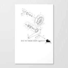 Motorbike diagram  Canvas Print