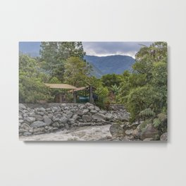 Pastaza River and Leafy Mountains in Banos Ecuador Metal Print