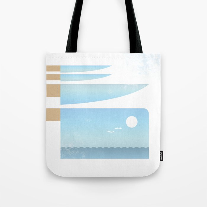 Choppy Waves Tote Bag