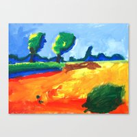 psychadelic Canvas Prints featuring Psychadelic Landscape by Anton van Dort