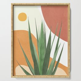 Abstract Agave Plant Serving Tray
