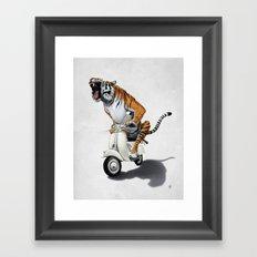 Rooooaaar! (Wordless) Framed Art Print
