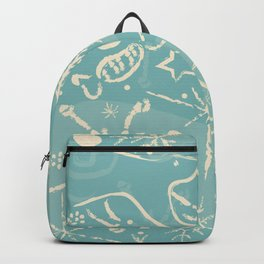 Seamless Winter Pattern with Hand Drawn Winter Elements Backpack