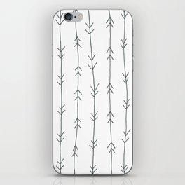 Grey, Steel: Arrows Pattern iPhone Skin