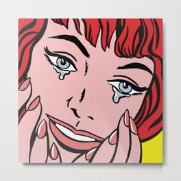 Happy Tears 01 Metal Print