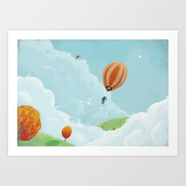 Airborne Janitor Art Print