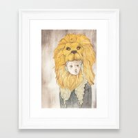 luna lovegood Framed Art Prints featuring Luna Lovegood by Natasha Gardos