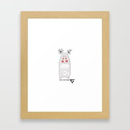 Frost Troll Baby Framed Art Print