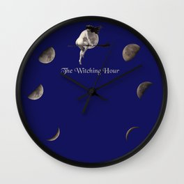 Moon Phases with Vintage Witch Wall Clock