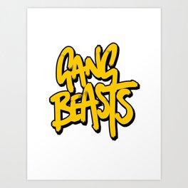 Gang Beasts Art Print
