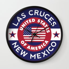 Las Cruces, New Mexico Wall Clock