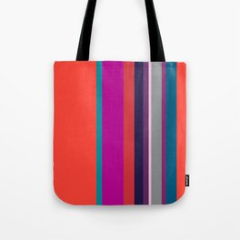 Spring collection - orange&orchid - strips Tote Bag
