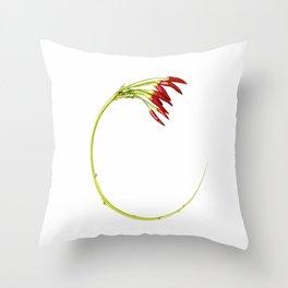 Warped Chilli Throw Pillow