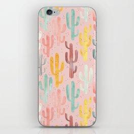 Long Multicolored Cacti iPhone Skin