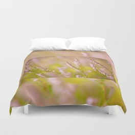 Soft focus of pink heather macro Duvet Cover
