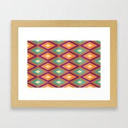 Pattern orange green Framed Art Print