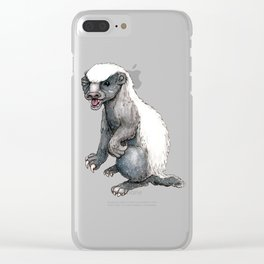 Sassy Honey Badger Clear iPhone Case