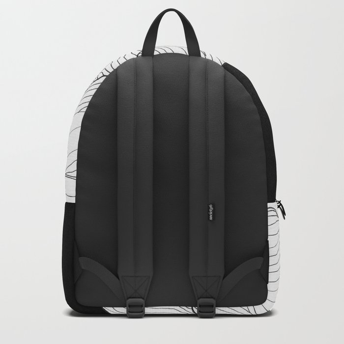 Lines in the mountains - b&w Backpack