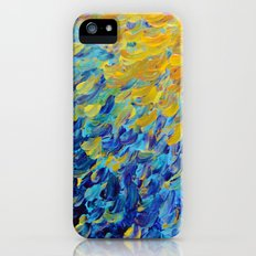 AQUATIC MELODY - Lovely Bright Abstract Ocean Waves Acrylic Painting Colorful Rainbow Beach Gift Art iPhone (5, 5s) Slim Case